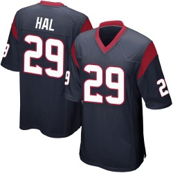 Nike Andre Hal Houston Texans Youth Game Navy Blue Team Color Jersey