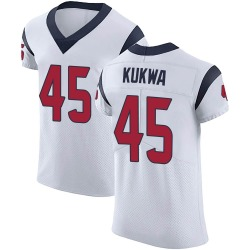 Nike Anthony Kukwa Houston Texans Men's Elite White Vapor Untouchable Jersey