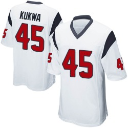 Nike Anthony Kukwa Houston Texans Men's Game White Jersey