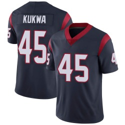 Nike Anthony Kukwa Houston Texans Youth Limited Navy Blue Team Color Vapor Untouchable Jersey