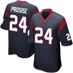 Nike C.J. Prosise Houston Texans Youth Game Navy Blue Team Color Jersey