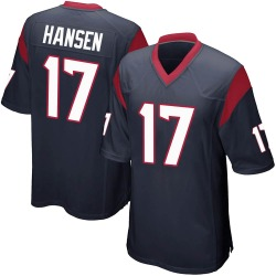 Nike Chad Hansen Houston Texans Men's Game Navy Blue Team Color Jersey
