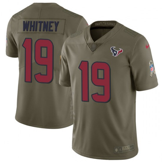 Nike Isaac Whitney Houston Texans Youth Limited Green 2017 Salute to Service Jersey